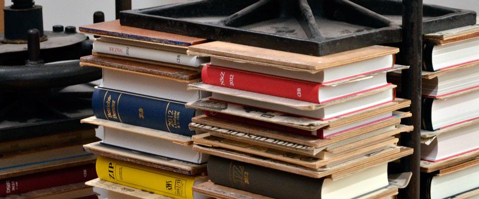 Bücher unter der Presse
