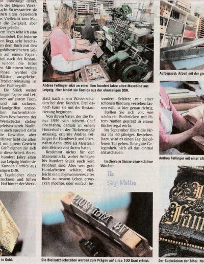 AZ München Artikel über die Buchwerkstatt